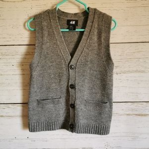 H&M Lamb's Wool Knit Vest 2-4y